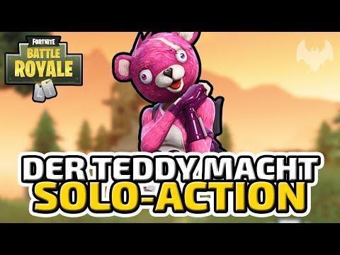 Der Teddy macht Solo-Action - ♠ Fortnite Battle Royale ♠ - Deutsch German - Dhalucard