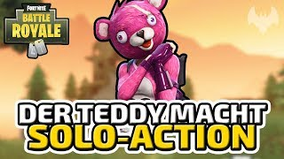 Der Teddy macht Solo-Action - ♠ Fortnite Battle Royale ♠ - Deutsch German - Dhalucard