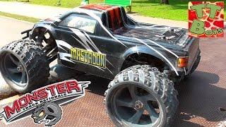 Машинка Монстр Трак Видео Для Мальчиков Тест-Драйв Машинки Ездим По Трамплинам Rc Monster Truck