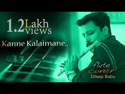 Kanne Kalaimane | Moondram Piravi \[ Flute ]Song By Dileep Babu .B