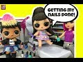LOL Surprise Custom Doll Ariana Grande 's Wedding Pt 2 Morning Routine & Gets Nails Done  GG Custom