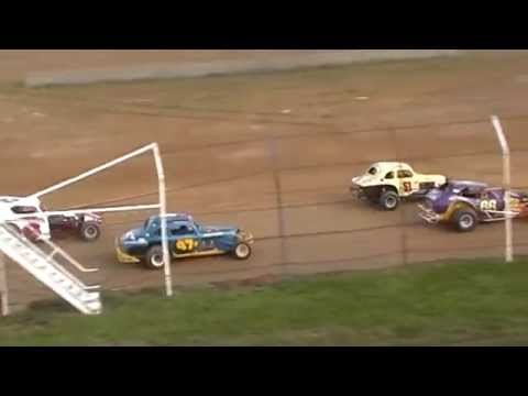 Dog Hollow Speedway - 5/18/14 Vintage Modifieds Heat Race #2
