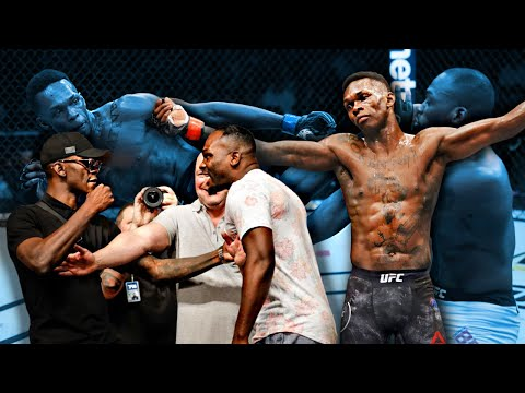 BEFORE and AFTER Fighting Israel Adesanya