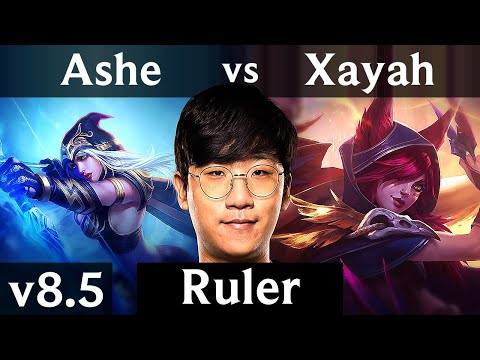 KSV Ruler - ASHE vs XAYAH (ADC) /// Korea Challenger /// Patch 8.5