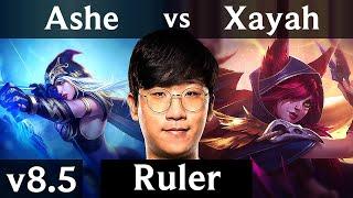 KSV Ruler - ASHE vs XAYAH (ADC) /// Korea Challenger /// Patch 8.5