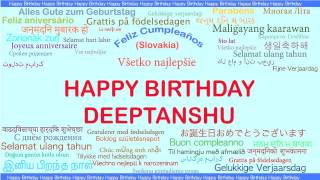 Deeptanshu   Languages Idiomas - Happy Birthday
