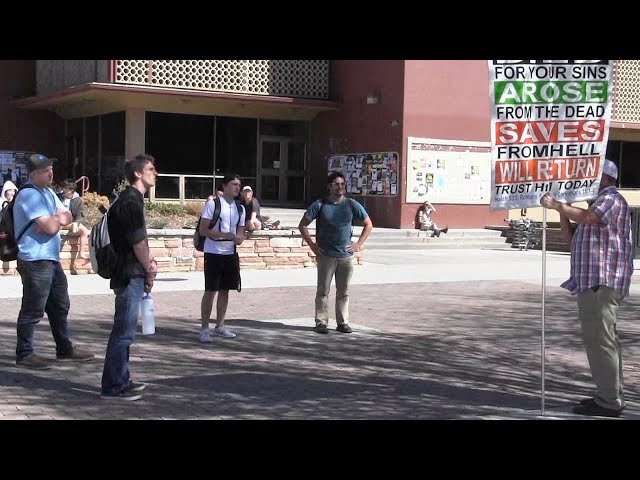 Open Air Preaching @ Colorado State University - Spring Semester 2019 - Kerrigan Skelly