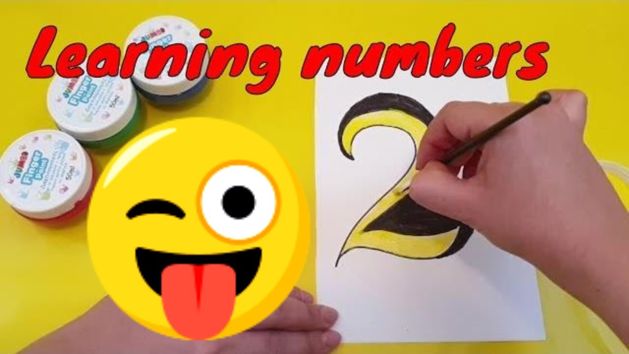 Play Doh Knet Küche Learning Numbers Through Painting With Glitter Kids Video