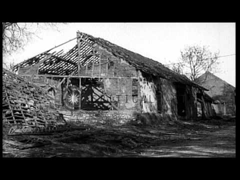 Allied Occupation of Cantigny Sector in Picardy, France, during World War I HD Stock Footage