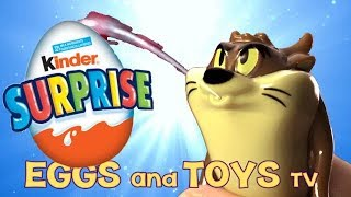 Kinder Surprise Eggs Looney Toons Rare Edition Opening - Eggs and Toys TV