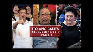 UNTV: Ito Ang Balita (November 12, 2018)  Part 1