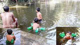 How to Swimming using the Bottles/Respective