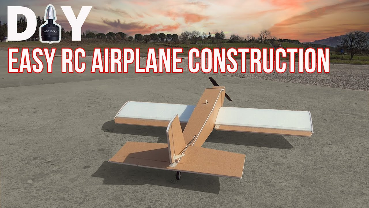 How To Make An Easy RC Airplane. DIY Remote Control Model Plane
