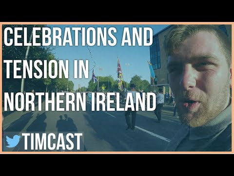 CELEBRATIONS AND TENSION IN NORTHERN IRELAND