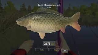 Русская Рыбалка 4,  оз. Медвежье ловим на махи
