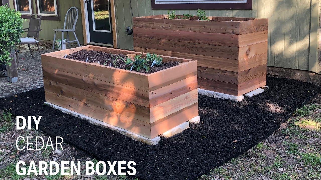 DIY | Making Cedar Garden Boxes