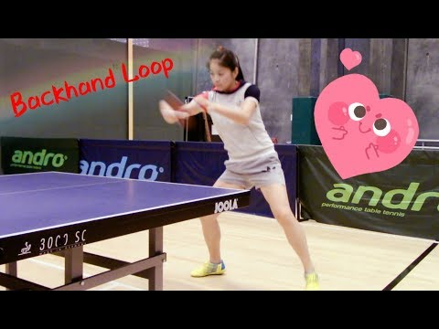26. How to play backhand loop ——Yangyang's table tennis lessons