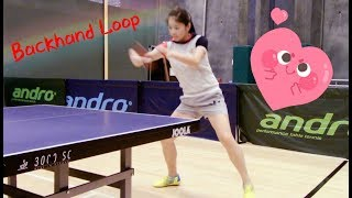 How to play backhand loop ——Yangyang's table tennis lessons