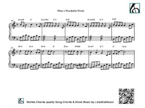 What a Wonderful World - piano sheet music - beginners - YouTube