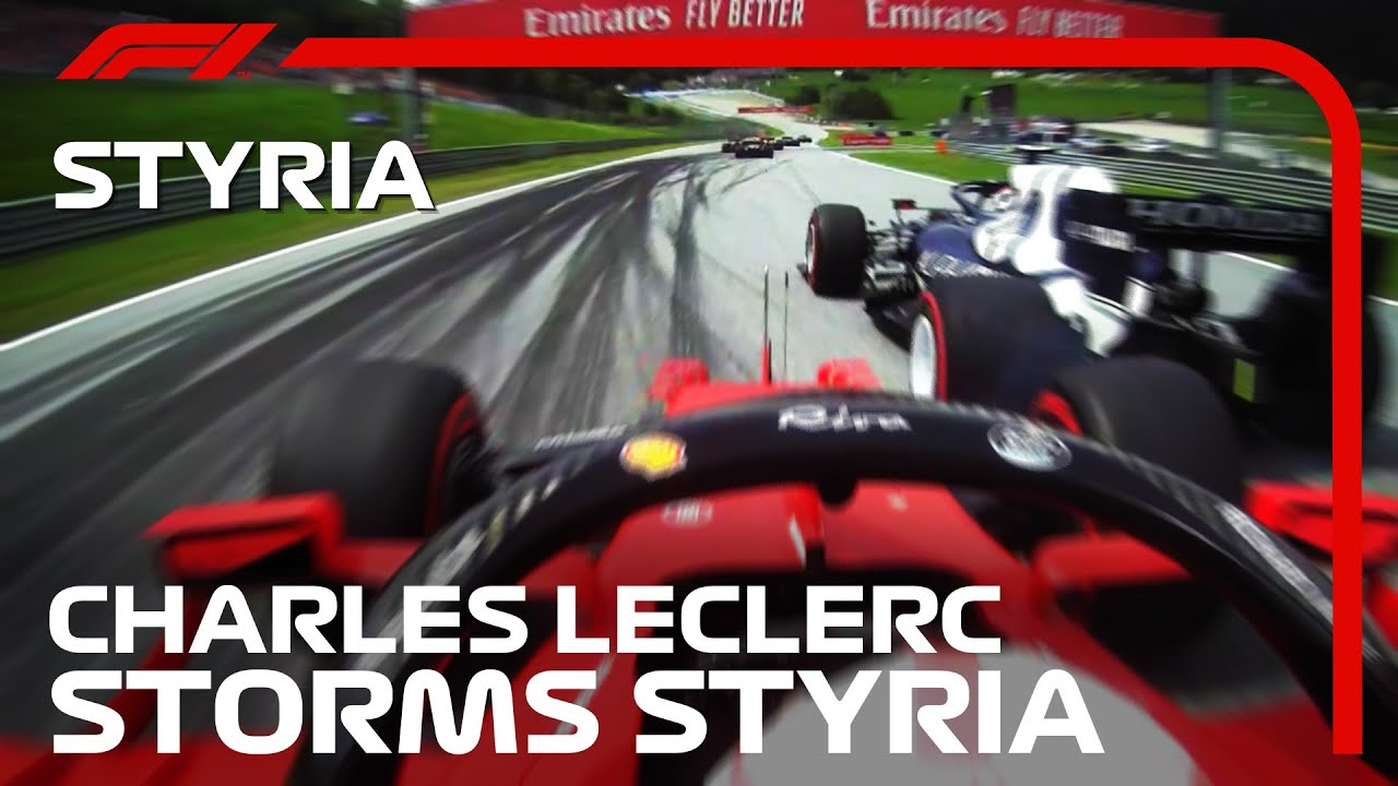 Download Charles Leclerc Charges Through The Pack   2021 Styrian Grand Prix