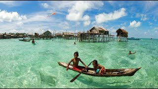 EXTREME SURVIVAL. BAJAU SEA GYPSIES, SE ASIA. DOCUMENTARY.