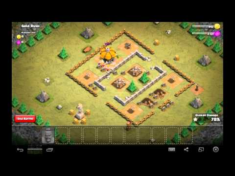 Gold Rush - Town Hall Level 2 - 22 Barbarians - Simple Clash of Clans