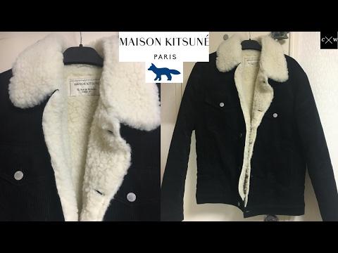 Maison Kitsune - Corduroy Trucker Jacket Review - Black - Shearling