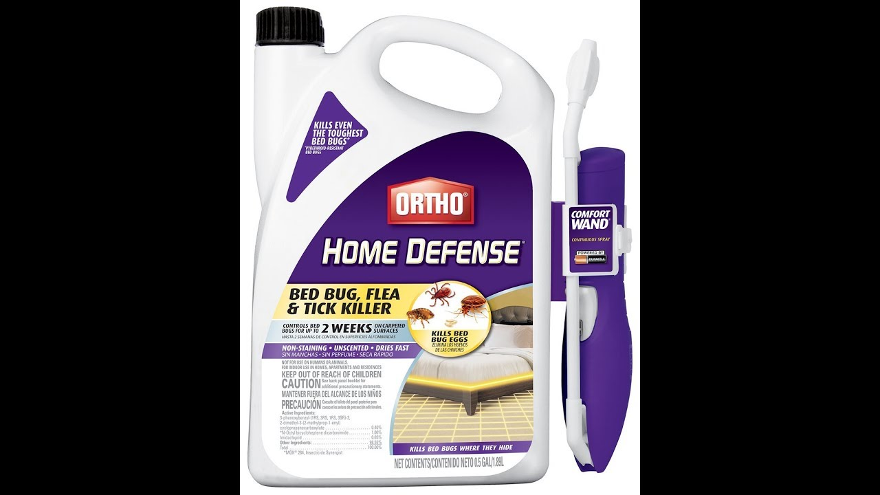 ortho home defense fleas| max bed bug, and tick killer - youtube