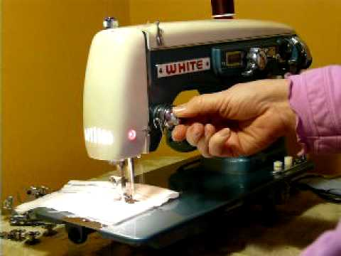 white super deluxe model min, nice sewing machine