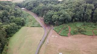 Aerial drone views of Shelsley Walsh Hill Climb - August 2018