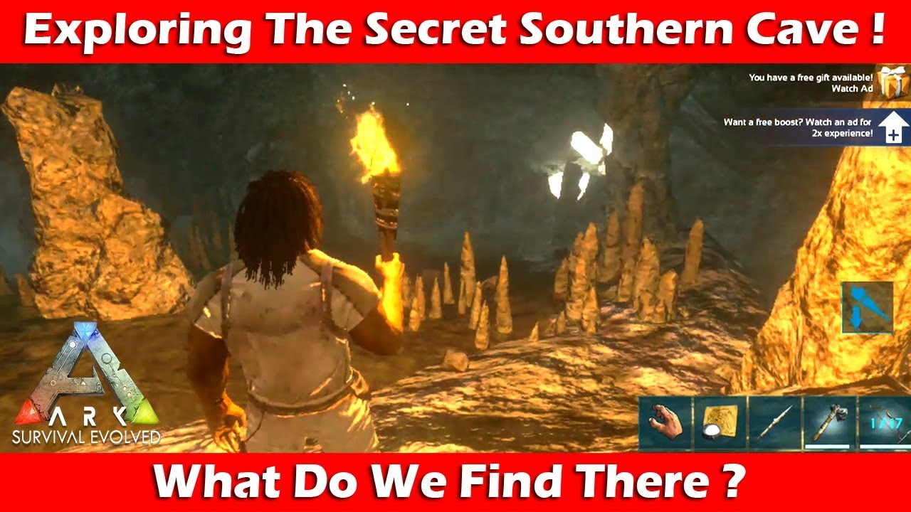 Exploring The Hidden Southern Cave! ARK Survival Mobile