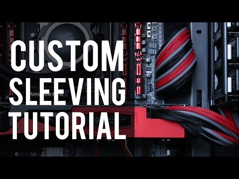 Red Custom Sleeved PC Extensions Cable Basic Kit PSU Power