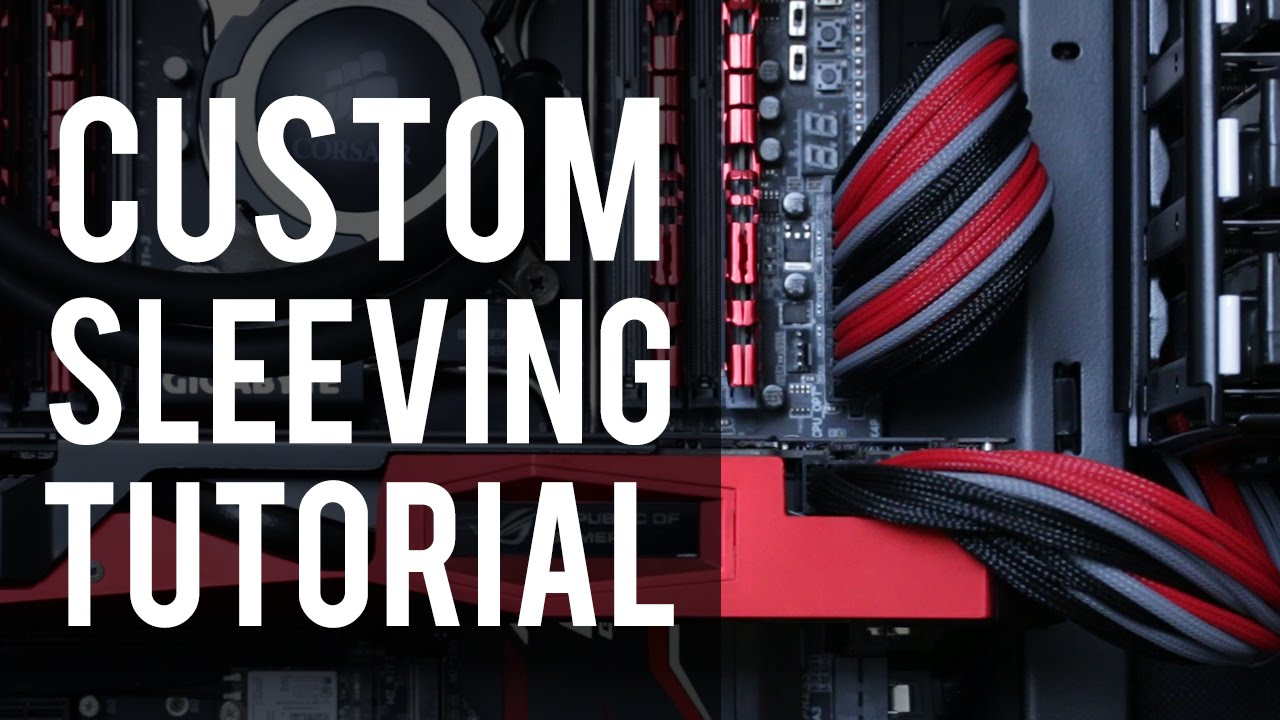 How To: Custom Sleeve Your Own Cable Extensions - YouTube