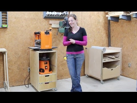 Build A Mobile Shop Cart Planer Stand Youtube