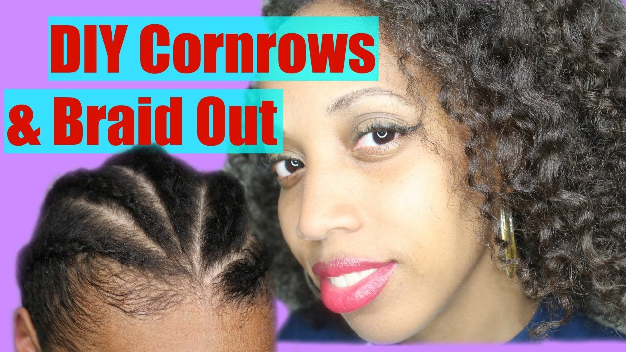 Cornrows And Braidout On Natural Hair Youtube