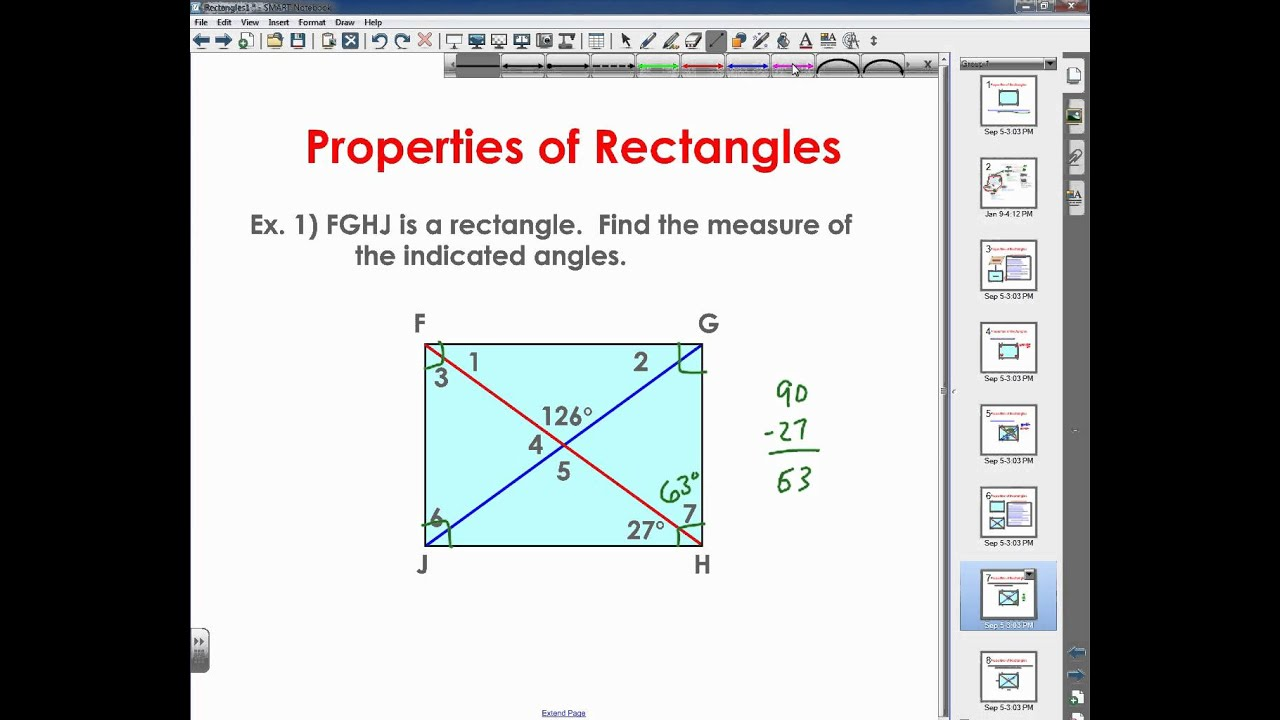 Printables Of Properties Of Rectangles Rhombuses And