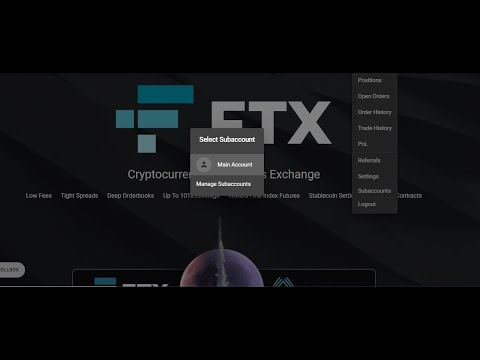 How to create a sub-account on FTX.#FTX #Crypto #Exchange #John8kelvin #Cryptocurrency.