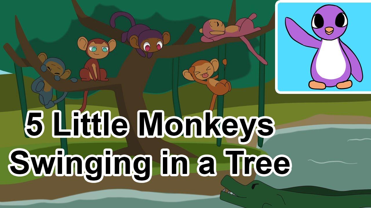 5 Little Monkeys Swinging In A Tree Poem Bright New Day
