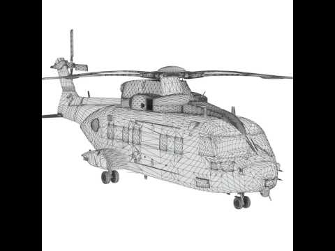 Augusta Westland EH101 Merlin HC3A transport helicopter 3D model from CGTrader.com