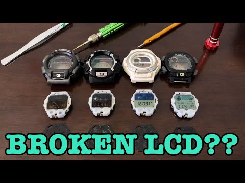 G-Shock engine components & issues | How to SWAP LCD panel!