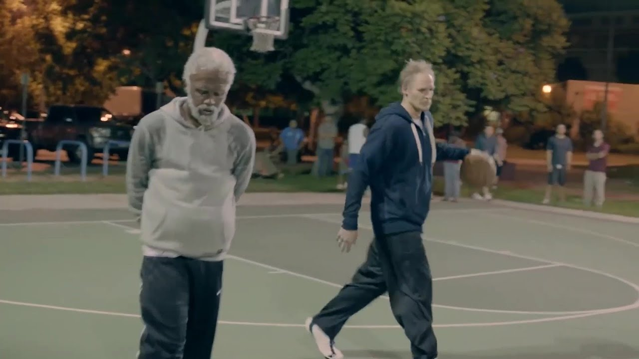 Download Uncle Drew and Jerry West take on youngsters part 2 . Basketball short clip