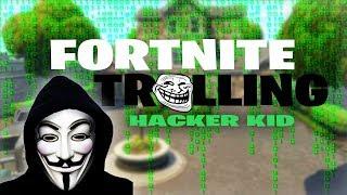 FORTNITE HACKER KID! Fortnite Trolling (Random Squad Fills)