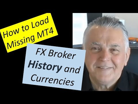 How to Load Missing Broker history & Currencies onto a MT4 platform