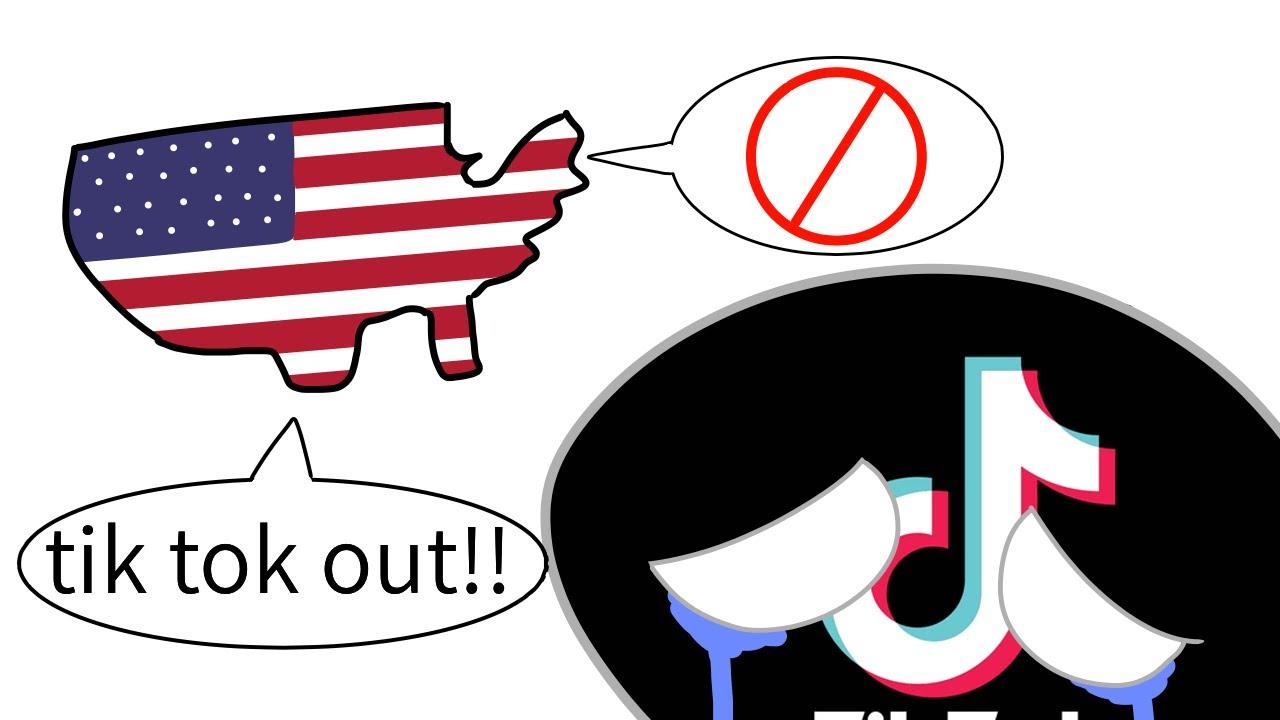 틱톡, 미국에 금지되다 [Countryballs]