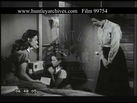 Listening To The Radio, 1940s - Film 99754