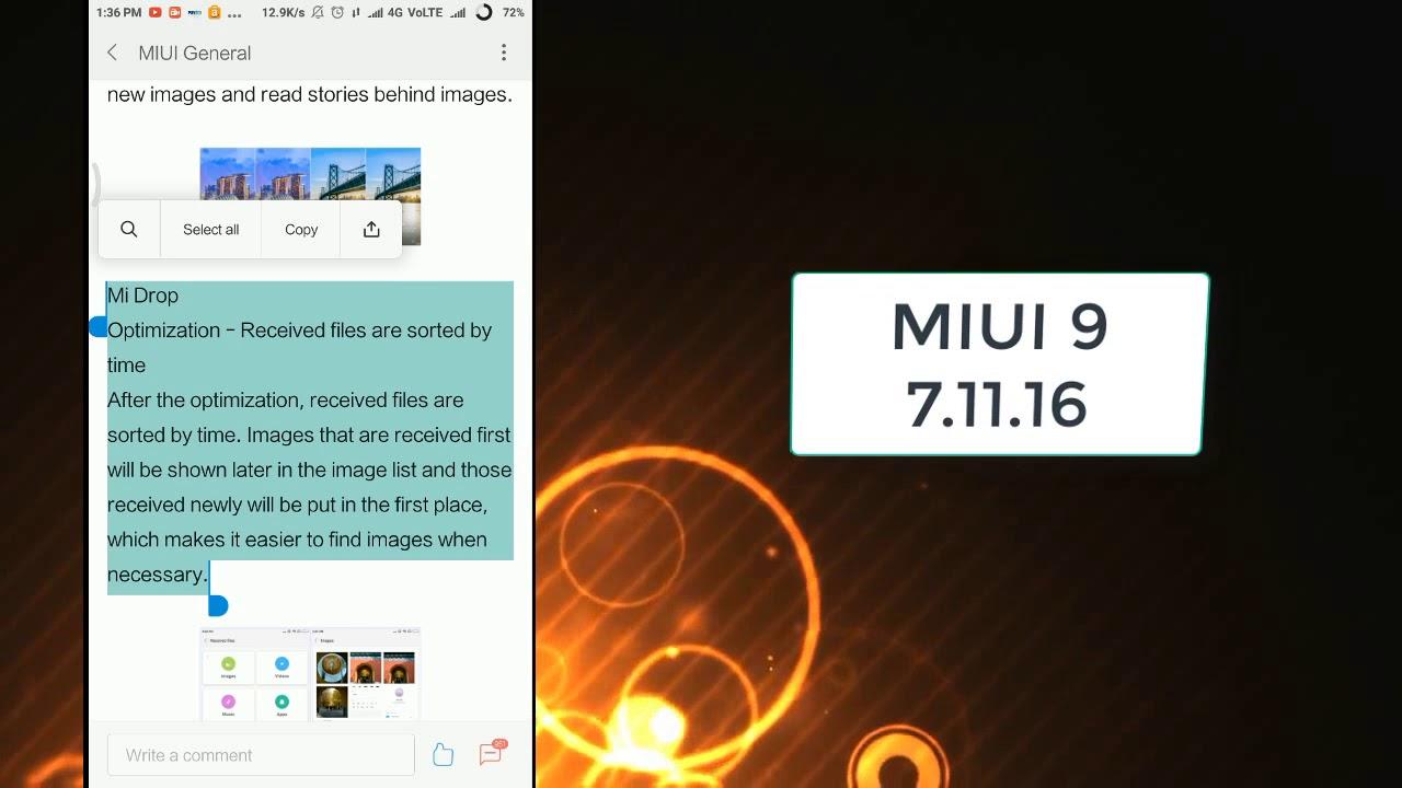 Miui 9 Global Beta Rom 7 11 16 Wallpaper Carousel And More 2017