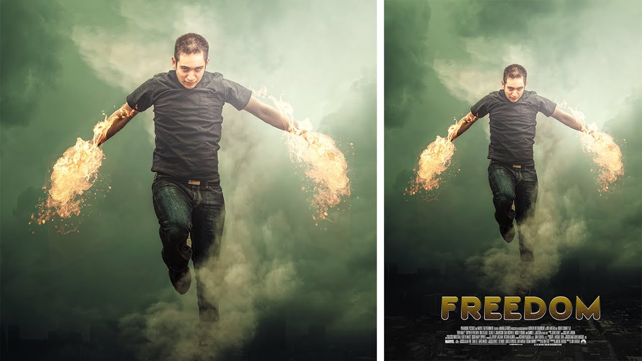 Poster design in photoshop - Photoshop Manipulation Movie Poster Design Fire Photo Effect Youtube