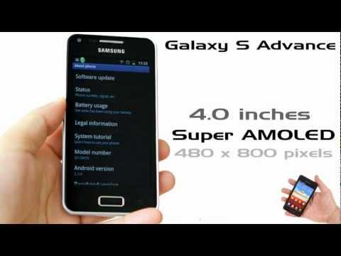 Compare Galaxy S advance and Galaxy R