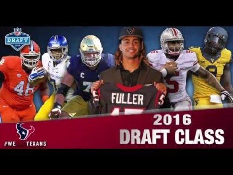 Houston Texans 2016 Draft Class Highlights