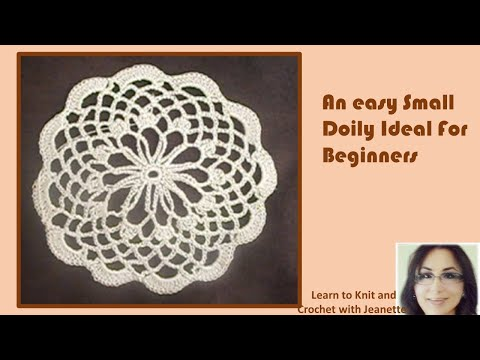 An Easy Small Doily Ideal For Beginners Youtube
